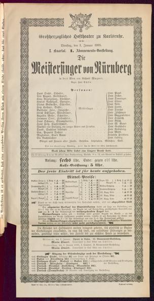 [Karlsruher und Badener Theaterzettel | 1895]
