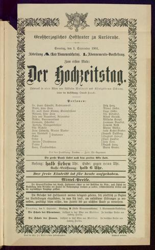 [Karlsruher und Badener Theaterzettel | 1901-1902]