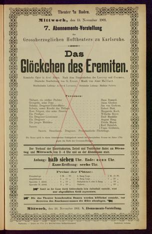 13.11.1901 <<Les>> dragons de Villars [Maillart, Louis Aimé]