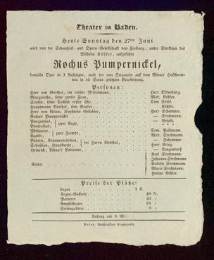 [Karlsruher und Badener Theaterzettel | 1830]