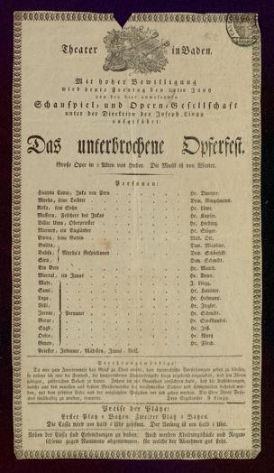 [Karlsruher und Badener Theaterzettel | 1832]