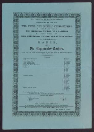 [Karlsruher und Badener Theaterzettel | 1845]
